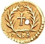 1 tremissis Odovacer / Au nom de Zénon, 474-491 (avec deux Xs; avec anneau) – revers