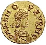 1 tremissis Odovacar / Au nom de Zeno, 474-491 (avec deux Xs; sans anneau) – avers