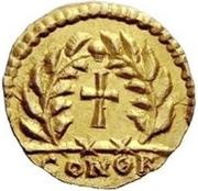 1 tremissis Odovacar / Au nom de Zeno, 474-491 (avec deux Xs; sans anneau) – revers