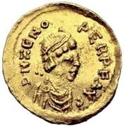 1 semissis Odovacer / Au nom de Zénon, 474-491 (Ravenne) – avers