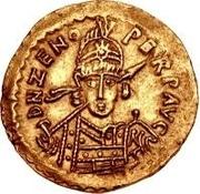 1 solidus Odovacar / Au nom de Zeno, 474-491 (avec étoile à gauche) – avers