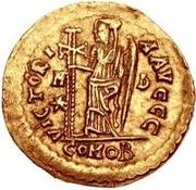 1 solidus Odovacer / Au nom de Zénon, 474-491 (avec étoile à gauche) – revers