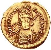 1 solidus Odovacer / Au nom de Zénon, 474-491 (avec étoile à droite) – avers