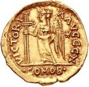 1 solidus Odovacar / Au nom de Zeno, 474-491 (avec étoile à droite) – revers