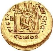 1 solidus Odovacar / Au nom de Zeno, 476-491 (sans étoile) – revers