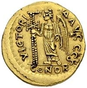 1 solidus Odovacar / Au nom de Basiliscus, 475-476 (atelier incertain) – revers