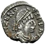 ½ silique Odovacer / Au nom de Zénon, 476-491 (épaisse proue) – avers