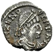 ½ siliqua Odovacar / Au nom de Zeno, 476-491 (épaisse proue) – avers