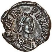 ½ silique Odovacer / Au nom de Zénon, 476-491 (mince proue) – avers