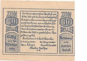 10 Heller (Herzogsdorf) – avers