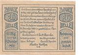 20 Heller (Herzogsdorf) – avers