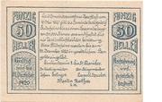 50 Heller (Herzogsdorf) – avers