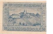 50 Heller (Herzogsdorf) – revers