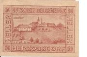 50 Heller (Herzogsdorf) -  avers
