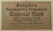 1000 Mark (Nassauische Landesbank) – avers