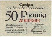 50 Pfennig (Sankt Goarshausen) – avers
