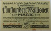 500,000,000 Mark (Hessische Landesbank) – avers