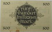 500,000,000 Mark (Hessische Landesbank) – revers