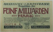 5,000,000,000 Mark (Hessische Landesbank) – avers