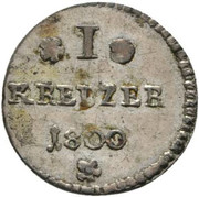1 Kreuzer - Louis X – revers