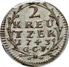 2 kreutzer Ludwig VIII – revers