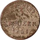 3 Kreuzer (Ludwig X) – revers