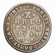 10 Kreutzer - Ernst Ludwig I – revers