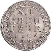 12 kreuzer Ludwig VIII – revers