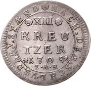 12 Kreuzer - Ernst Ludwig – revers