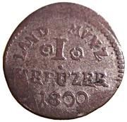1 kreuzer Ludwig X – revers