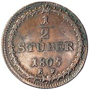 ½ Stüber - Ludwig X – revers