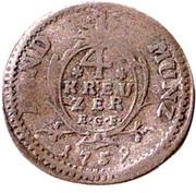 4 Kreuzer - Ludwig VIII – revers