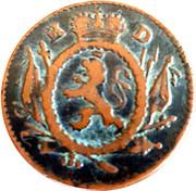 2 pfennig Ludwig IX – avers