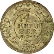 4 Kreuzer - Ludwig IX – revers