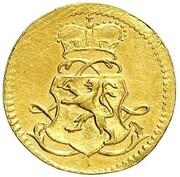 1 kreuzer Ludwig VIII (Frappe essai en or) – avers