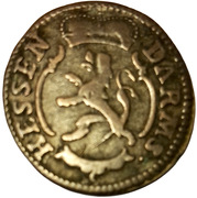 1 kreuzer Ludwig IX – avers