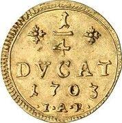 ¼ ducat Ernst Ludwig – revers