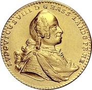 1 Ducat - Ludwig VIII. – avers