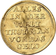 1 Ducat - Ludwig VIII. (Jagddukat) – revers