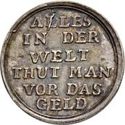 1 Ducat - Ludwig VIII. (Jagddukat; Silver pattern strike) – revers