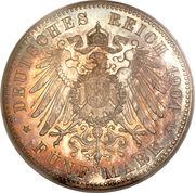 5 Mark - Ernst Ludwig (400ème anniversaire de la naissance de Philippe le Magnanime) – revers