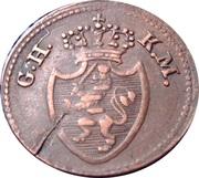 1 pfennig - Louis X – avers