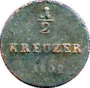 ½ Kreuzer - Ludwig X – revers