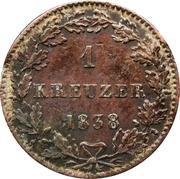 1 kreuzer - Ludwig II – revers