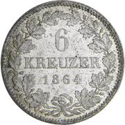 6 kreuzer Ludwig III. – revers