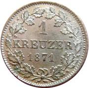1 Kreuzer - Ludwig III – revers