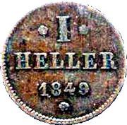 1 Heller - Ludwig III – revers
