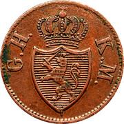 1 Heller - Ludwig II – avers