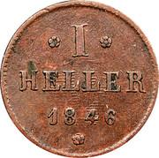 1 Heller - Ludwig II – revers