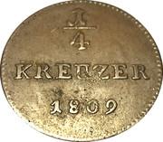 1/4 kreuzer Ludwig X – revers
